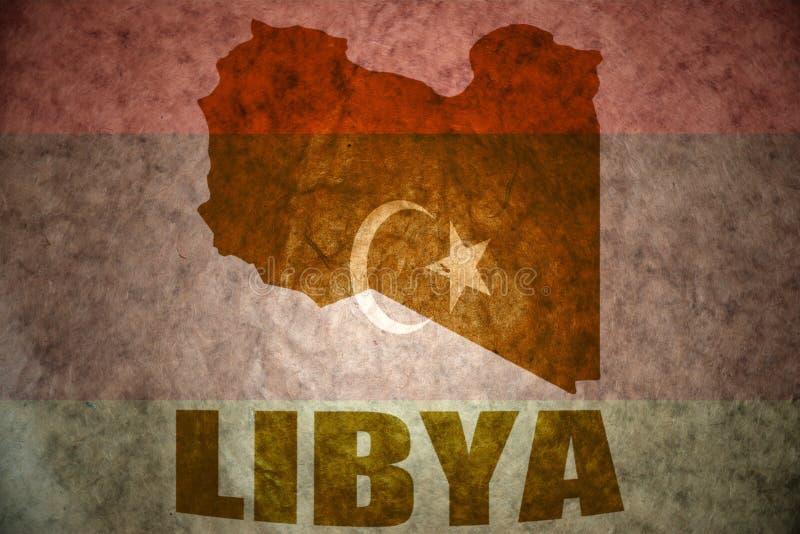 Mapa do vintage de Líbia imagens de stock
