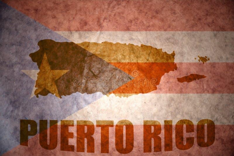Mapa do vintage de Puerto Rico ilustração royalty free