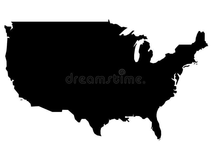 Mapa dos E.U. ilustração do vetor