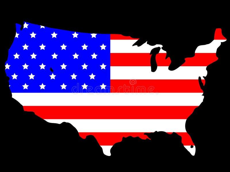 Mapa dos EUA ilustração royalty free