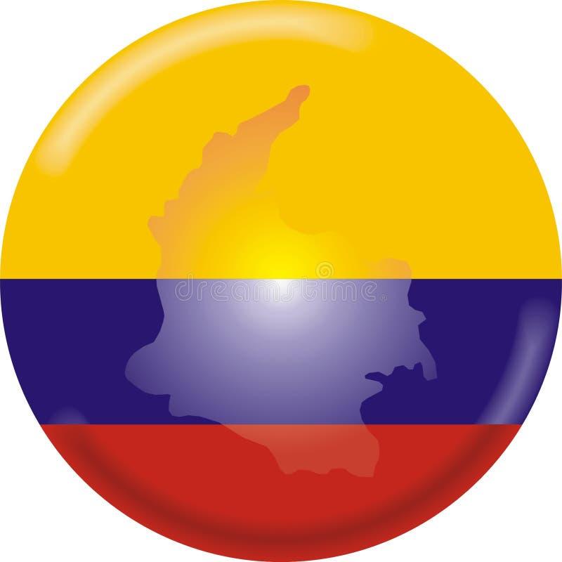 Mapa e bandeira de Colômbia ilustração do vetor