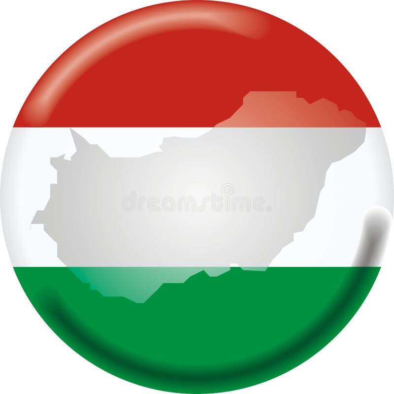 Mapa e bandeira de Hungria ilustração royalty free