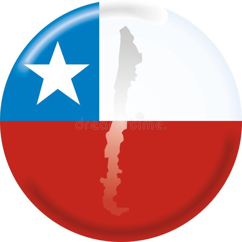 Mapa e bandeira do Chile ilustração royalty free