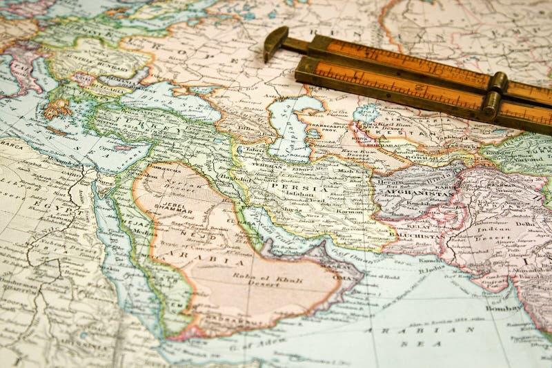 Mapa e carta do vintage imagem de stock royalty free