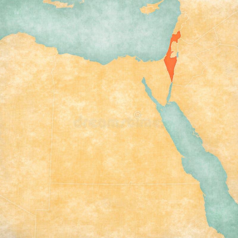 Mapa Egipt, Izrael - royalty ilustracja