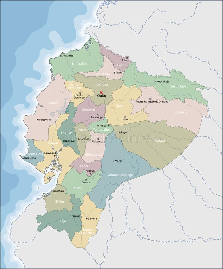 Mapa Ekwador ilustracja wektor