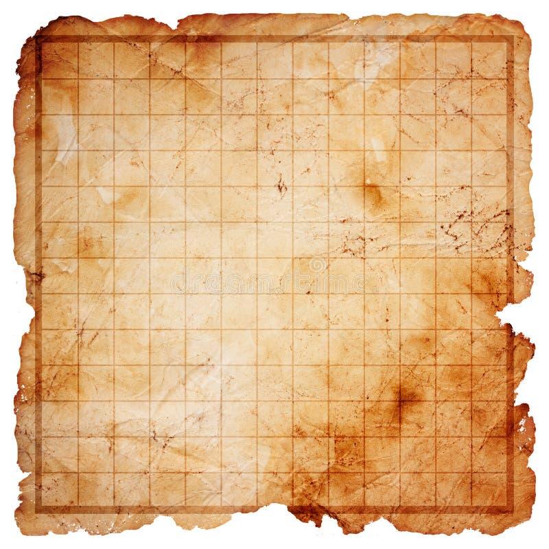 Mapa em branco do tesouro do pirata ilustração stock