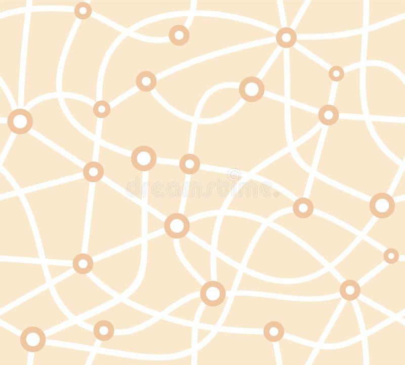 Mapa, esquema, modelo inconsútil, beige, vector libre illustration