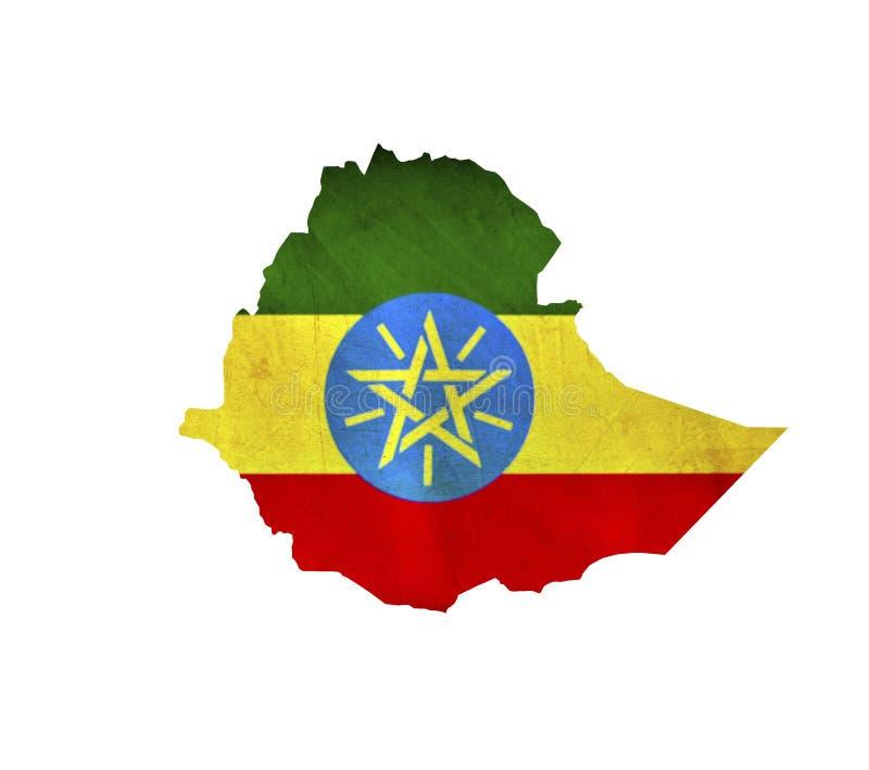 Mapa Etiopia odizolowywał zdjęcie royalty free