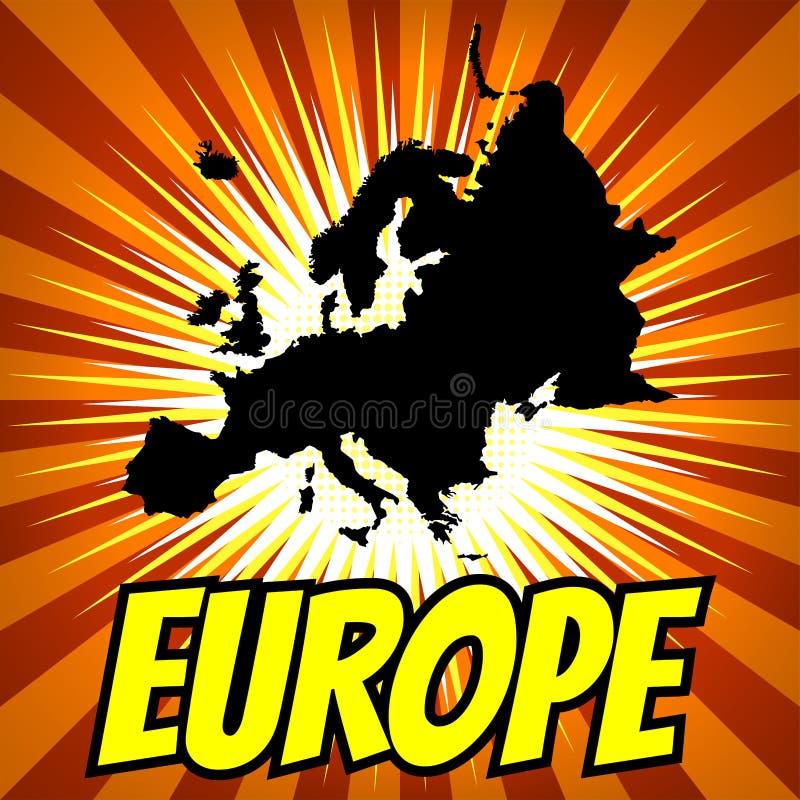 Mapa Europe ilustracja wektor