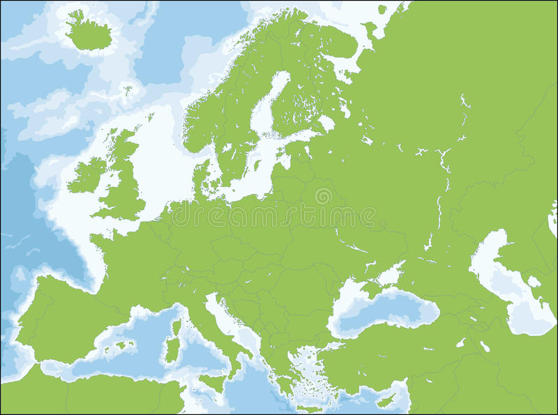 Mapa Europe ilustracji