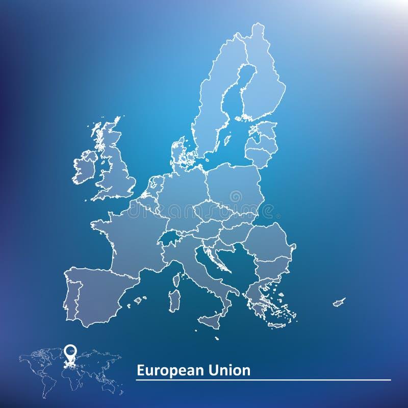 Mapa Europejski zjednoczenie 2015 ilustracja wektor