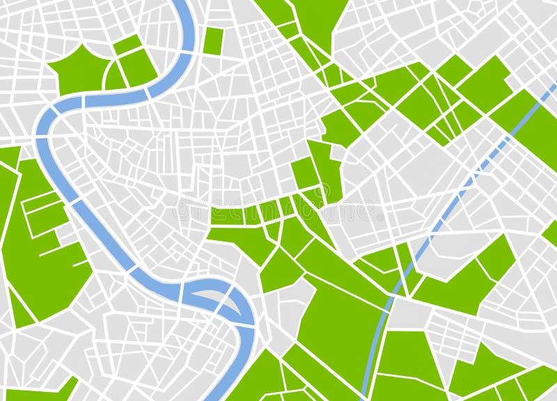 Mapa europeu genérico da cidade ilustração stock