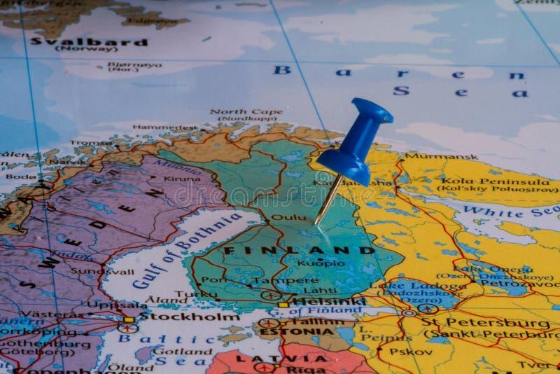 mapa finlandia obrazy stock