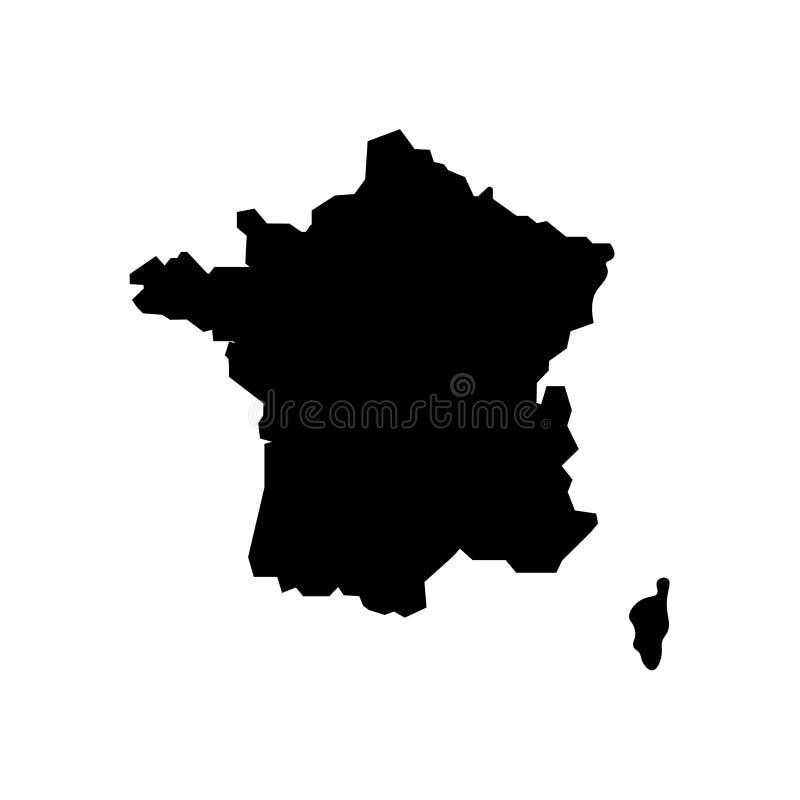 Mapa Francja i Corsica znak royalty ilustracja