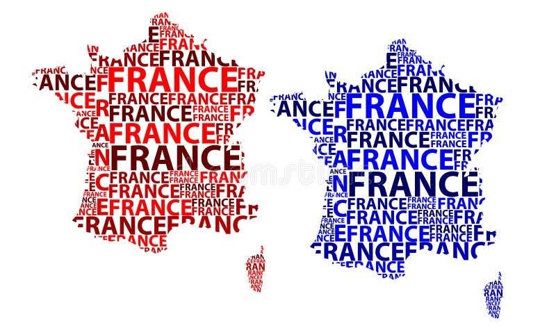 Mapa Francja - wektorowa ilustracja ilustracji
