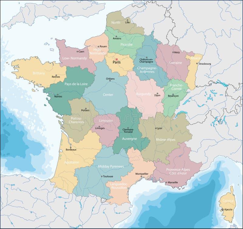 Mapa Francuska republika royalty ilustracja