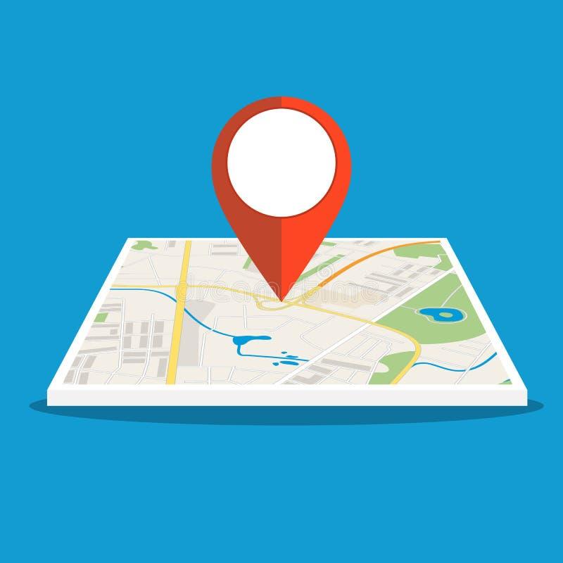 Mapa genérico abstracto de la ciudad con los caminos, libre illustration