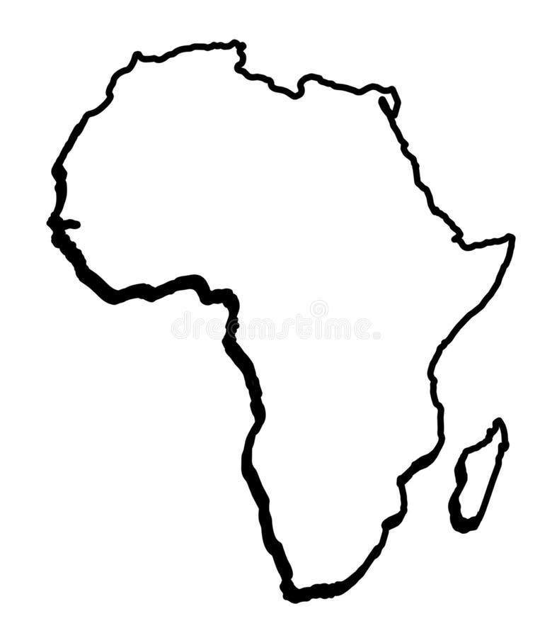 Mapa general de África ilustración del vector