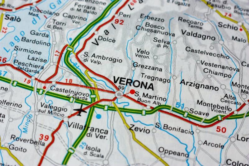 Mapa De Verona Italia.Mapa Geografico Del Pais Europeo Italia Con La Ciudad De Verona Imagen De Archivo Imagen De Italia Geografico 143026327
