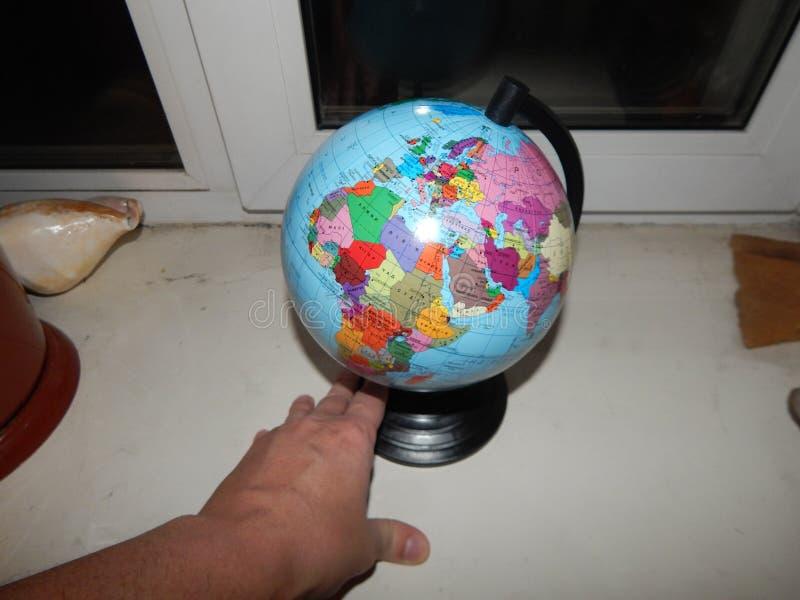 Mapa geográfico do globo do mundo fotos de stock royalty free