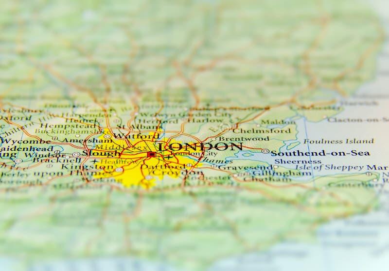 Mapa geográfico do país europeu Reino Unido com capital de Londres foto de stock royalty free
