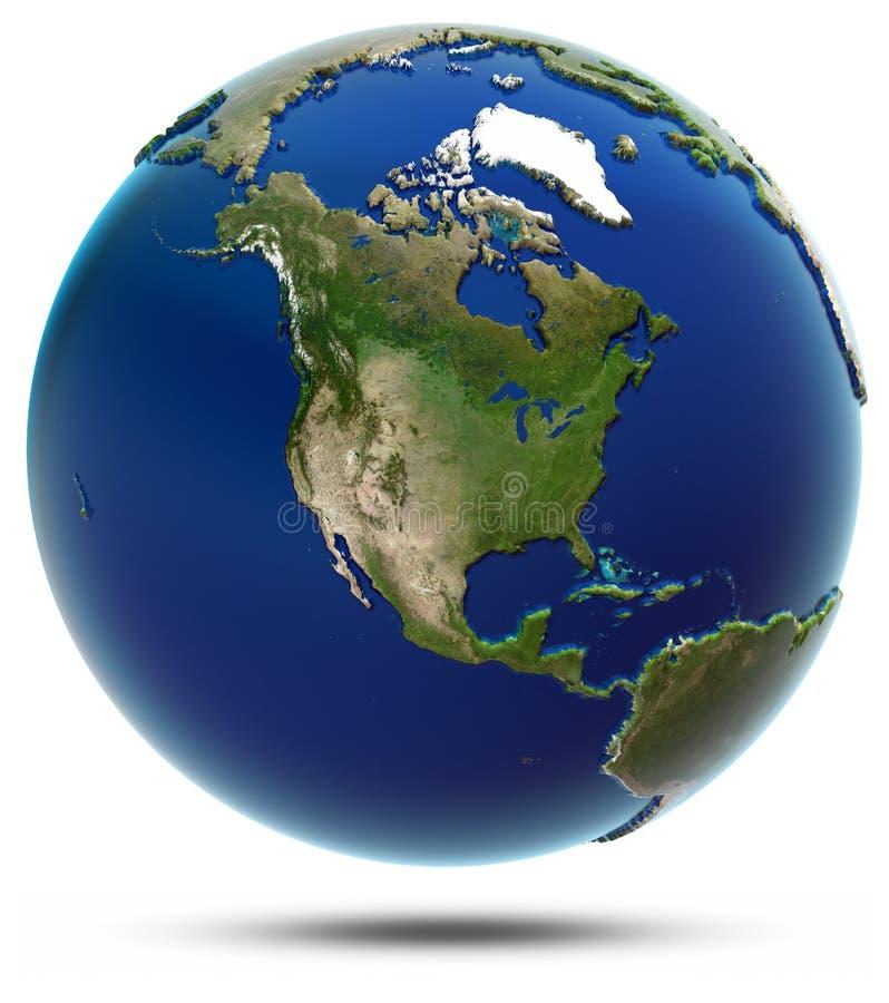 Download Mapa Global De América - Norteamérica Stock de ilustración - Ilustración de canadá, américa: 42439794