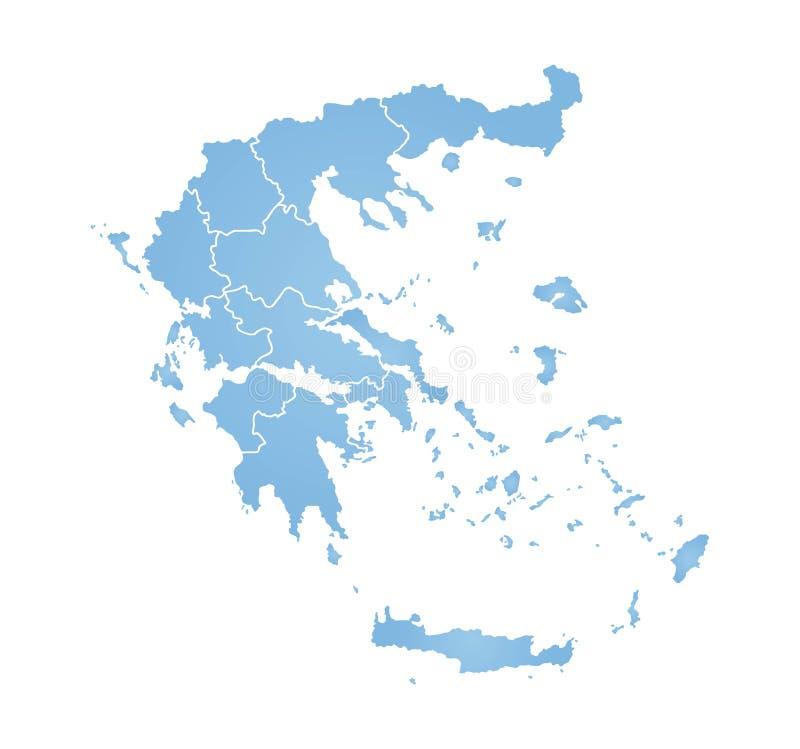 mapa greece ilustracja wektor