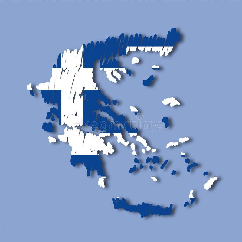 Mapa Greece do vetor ilustração stock