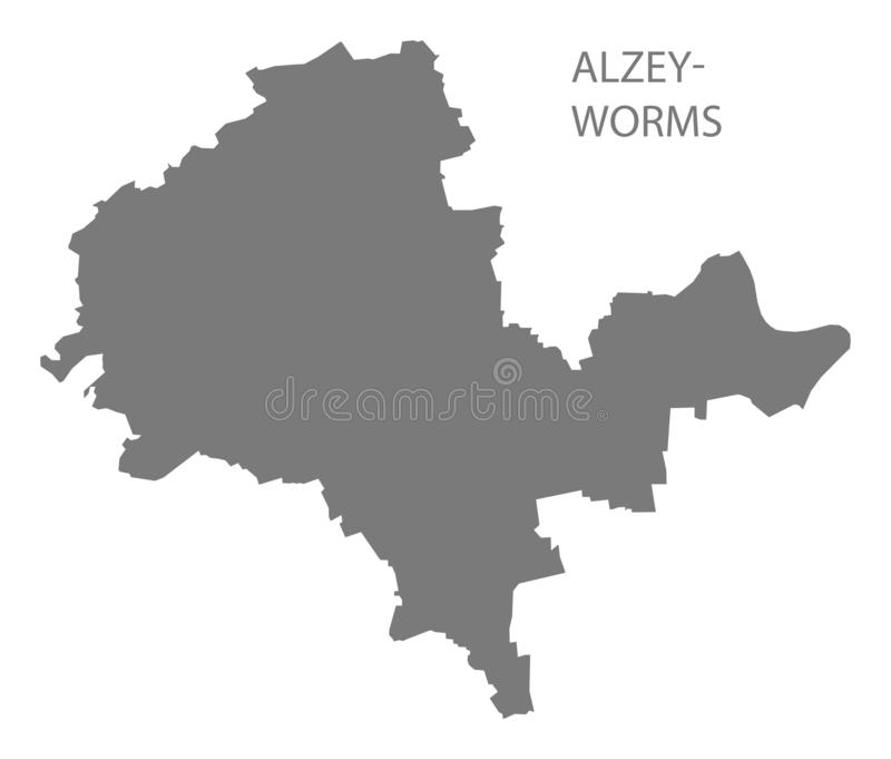 Mapa gris del condado de los Alzey-gusanos de Renania-Palatinado DE libre illustration