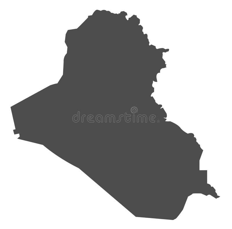 Mapa gris del vector de Iraq fotografía de archivo libre de regalías