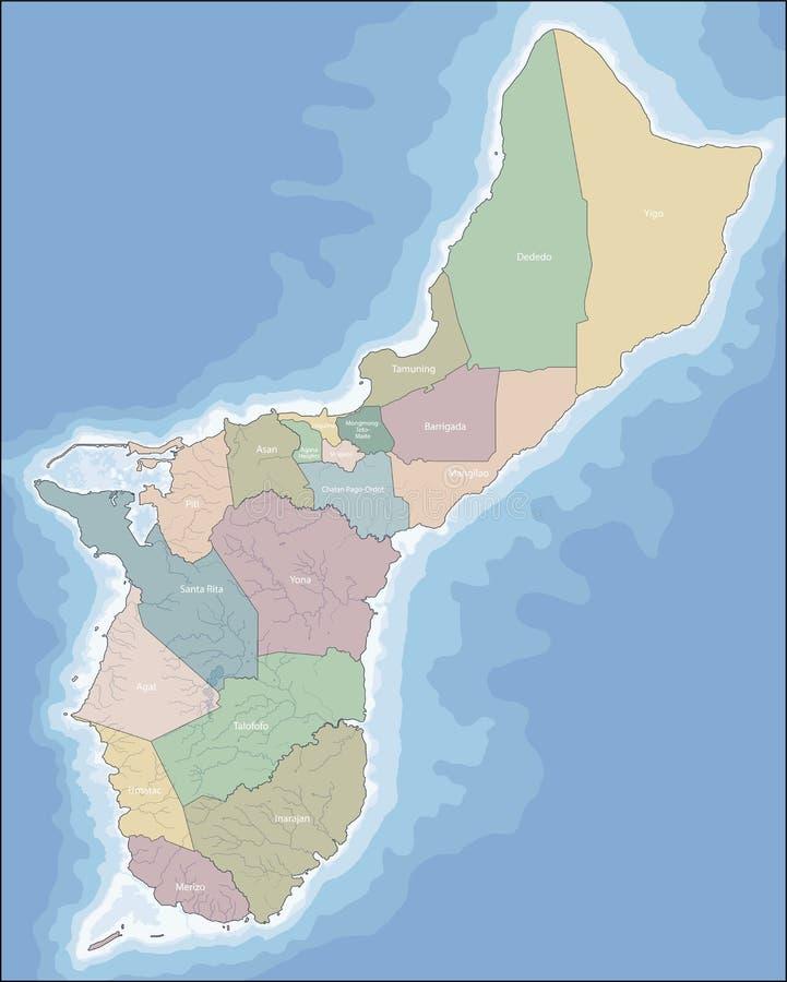 Mapa Guam royalty ilustracja