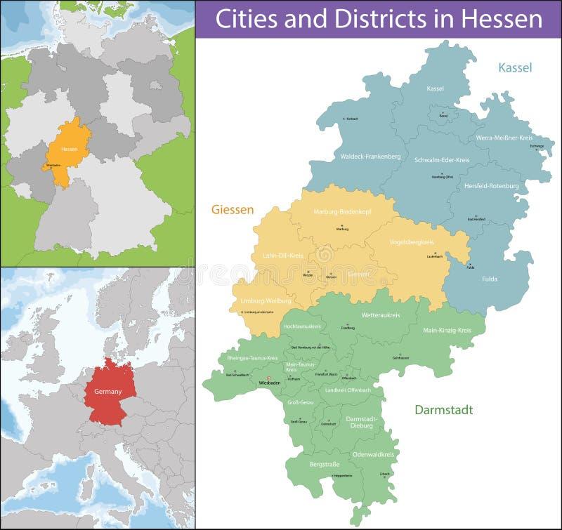 Mapa Hesse ilustracja wektor