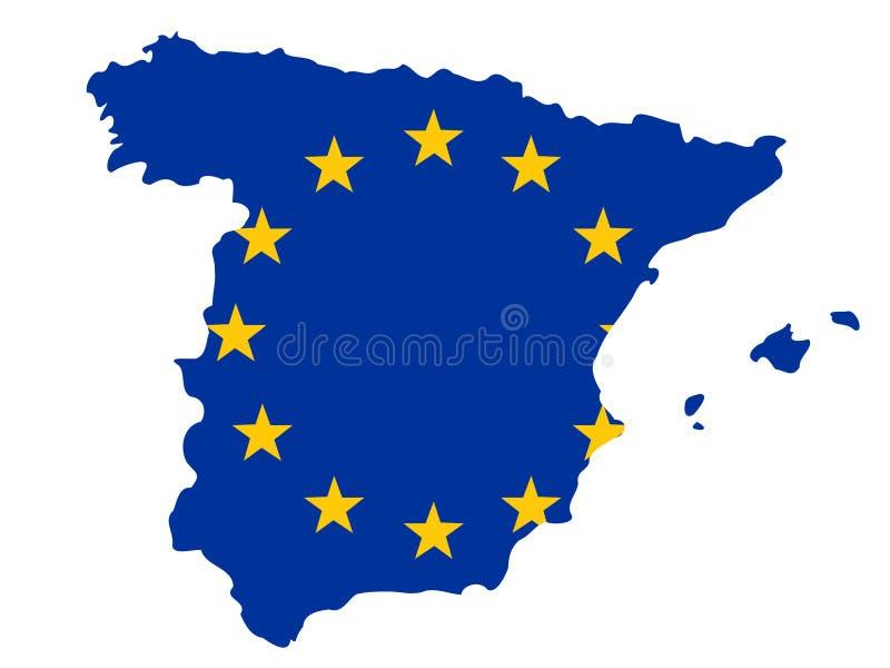 mapa Hiszpanii royalty ilustracja