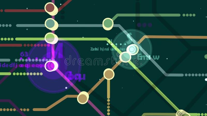 Mapa holográfico do metro ilustração royalty free