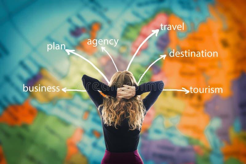 Mapa i podróży pojęcia obrazy stock