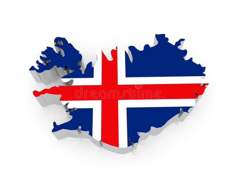 Mapa Iceland. royalty ilustracja