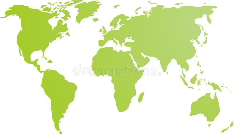 mapa ilustracyjny świat royalty ilustracja