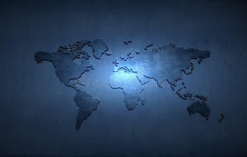 mapa ilustracyjny stary świat zdjęcia stock