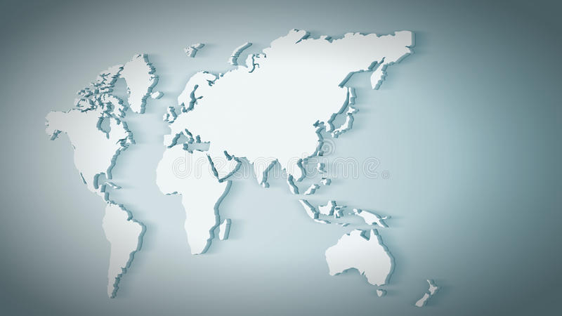 mapa ilustracyjny stary świat ilustracja wektor