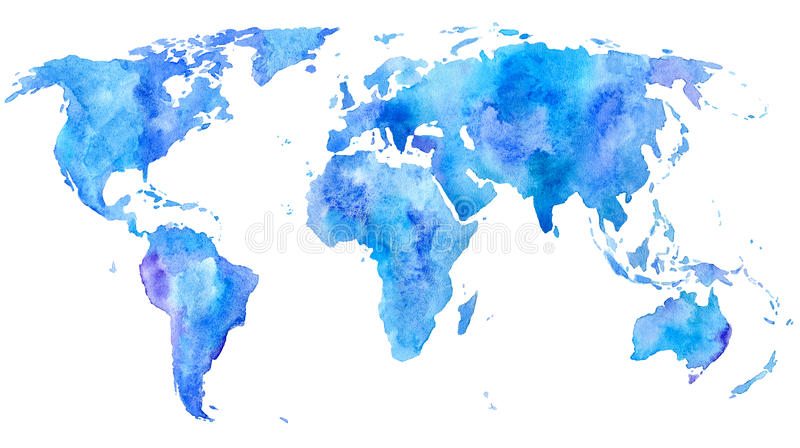 mapa ilustracyjny stary świat Ziemia royalty ilustracja