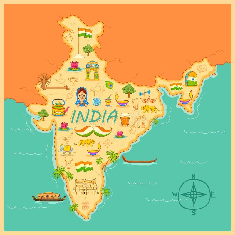 mapa indu ilustracji