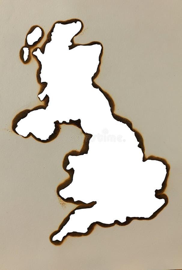 Mapa Inglaterra fotos de archivo libres de regalías