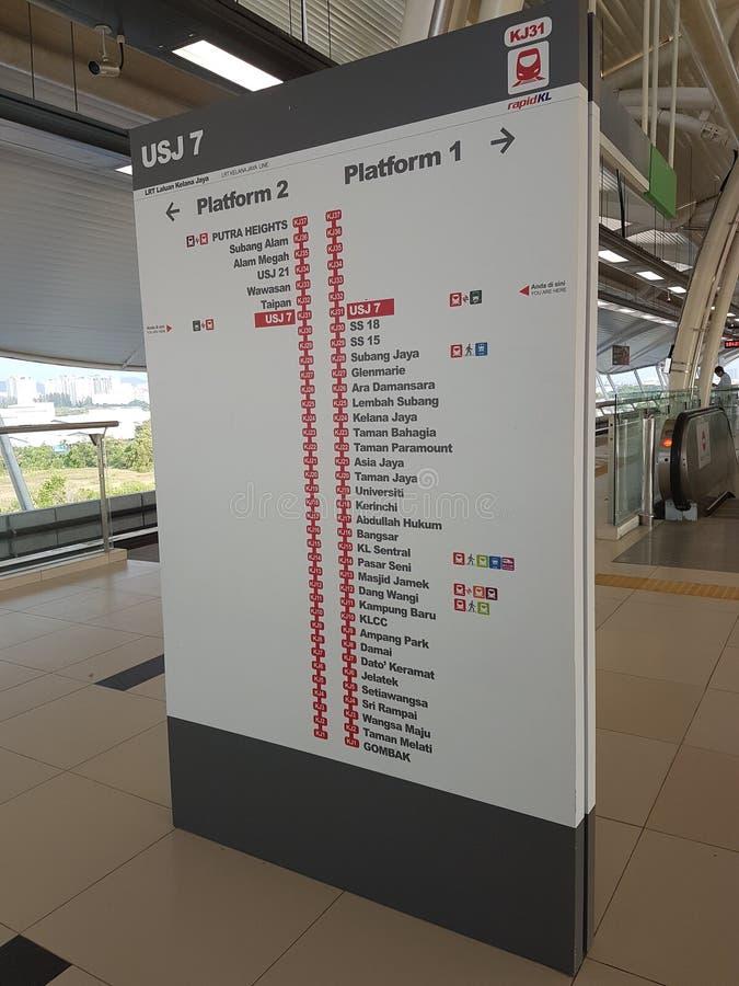 Mapa integrado Malásia do trânsito do vale de Klang imagens de stock