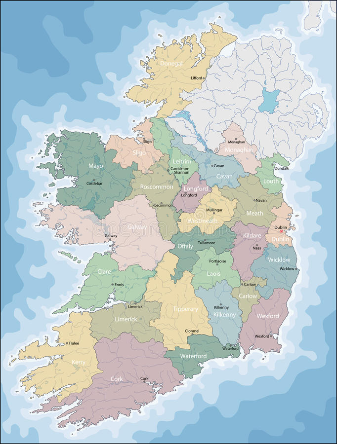 mapa irlandii ilustracji