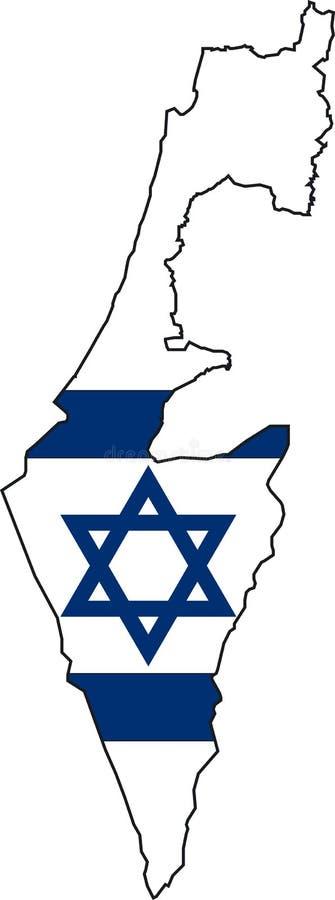 Mapa Israel ilustração royalty free