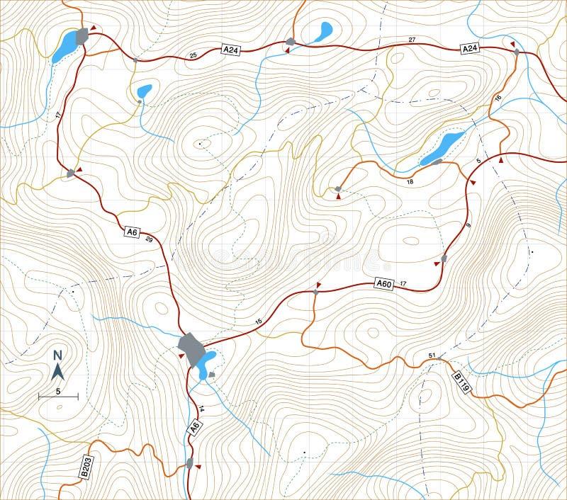 Mapa itinerario del contorno libre illustration