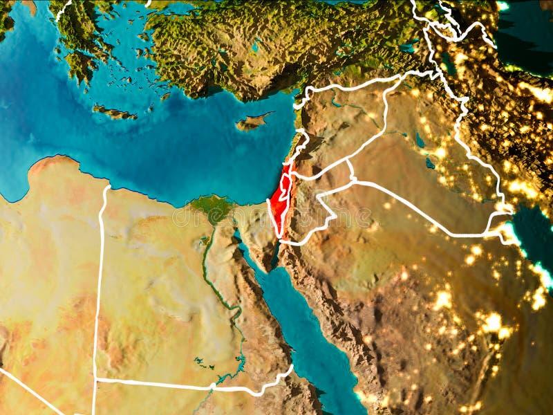 Mapa Izrael na ziemi royalty ilustracja