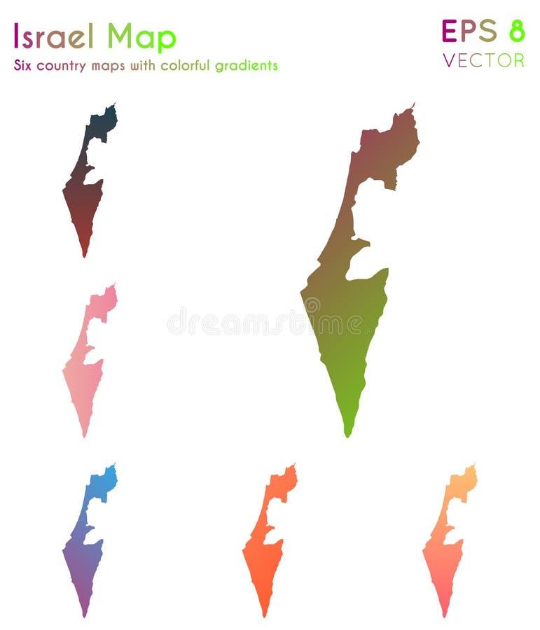 Mapa Izrael z pięknymi gradientami ilustracji