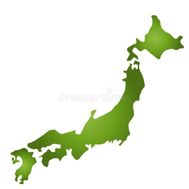 Mapa Japão ilustração do vetor